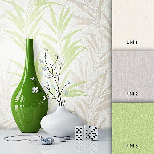 NEWROOM Blumentapete Tapete Weiß Blumen Blätter Floral Vliestapete Vlies moderne Design Optik...