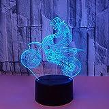 Yyhmkb Caracol 45 Decoracion Estanterias Lugar Decoracion Escritorios 3D Motocicleta 3D Luz Colorida Luz Estéreo Visual Led Gradiente Táctil Control Remoto Luz Visual