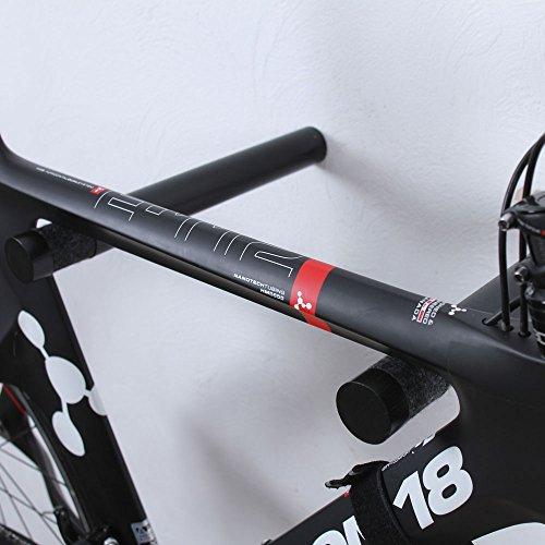 Twonee Fahrrad Wandhalterung Copenhagen - Hochwertige Holz Stäbe um das Fahrrad an der Wand zu befestigen - Fahrrad Wandhalter für Ihr Zuhause - aus Eschenholz (Schwarz)