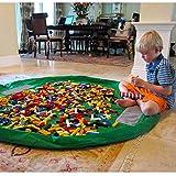 Giocare ai bambini Mat BigNoseDeer Bambino del giocattolo del giocattolo del bambino di immagazzinaggio del bambino Organizzatore del giocattolo del bambino 60 pollici (150 cm) (Verde)