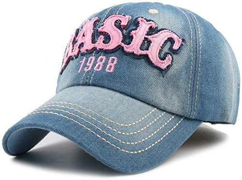 JIAHE115 Mini Persoonlijkheid honkbalpet herfst honkbalpet mannen en vrouwen fit jeans hip-hop-mode denimbaseballpet voering