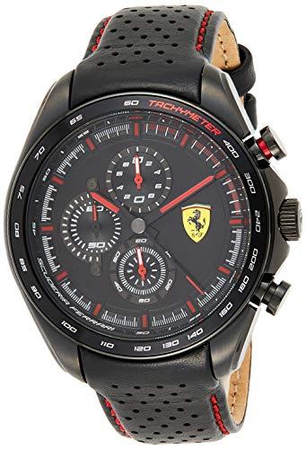 Scuderia Ferrari Reloj Analógico para Hombre de Cuarzo con Correa en Cuero 0830647
