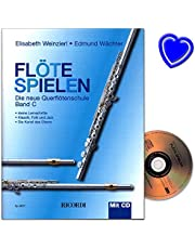 Play Flute Band C - New Flute School by Elisabeth Weinzierl and Edmund Wächter with CD and colourful heart-shaped music clip
