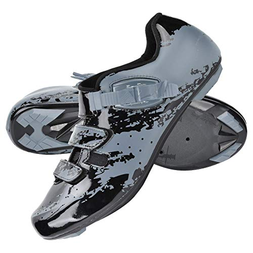 Alomejor Zapatillas de Ciclismo de montaña Zapatos Micro Ajustable Bicicleta Spinning Road Bike Shoe