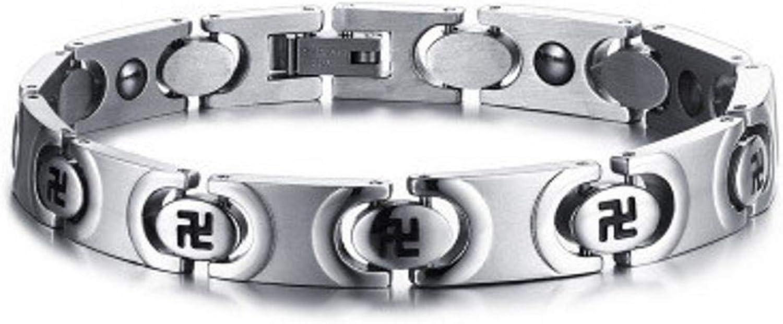 Zicue Stylish Charming Bracelet Exquisite Ornaments Men's Bracelet fashion titanium steel bracelet antifatigue bracelet titanium Steel 200mm9mm