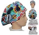 Cappello di sala operatoria BOOM per Capelli Lunghi, chirurgia, dentista, veterinaria, cuc...