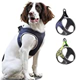 Reflective Puppy Harness, Small Dog Harness Adjustable Escape Proof Vest, Soft Mesh Padded Safety Pet Vest for Walking Training Running, Suitable for Small Medium Dog Kitten Cats