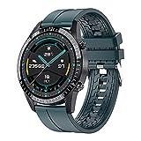 LSQ Moniteur Smart Watch pour Hommes Sports Sports Bluetooth Bluetooth Tarif Moniteur Compatible avec iOS et Android,G