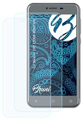 Bruni Schutzfolie kompatibel mit Medion Life E5008 MD60746 Folie, glasklare Bildschirmschutzfolie (2X)
