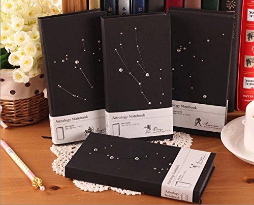 Happy Star® Diamante Negro De horóscopo, la astrología de tapa dura Vintage, papel, color Aries