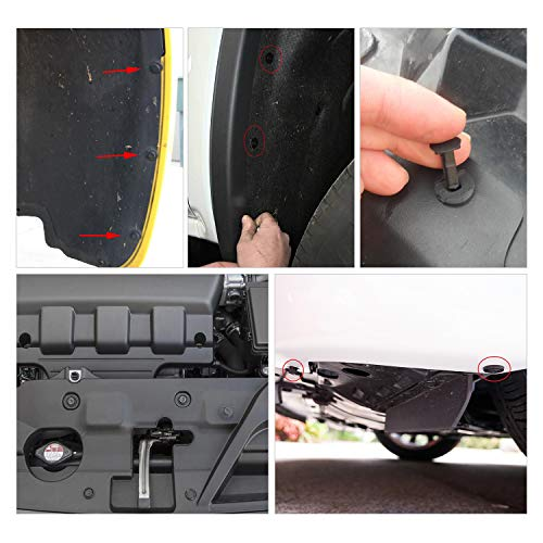 GOOACC Universal Plastic Fender Clips,200 Pcs Push Bumper Fastener Rivet Clips with 6 Size Auto Body Retainer Clips Bumpers,Car Fender Replacement for GM, Ford