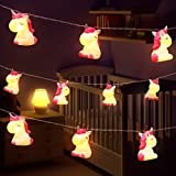 Children's Room Cute Animal Pink Unicorn LED String Lights for Holiday Lights Wall Window Tree Decorative Lights Party Yard& Garden Kids Bedroom Living-Room Dorm Decor