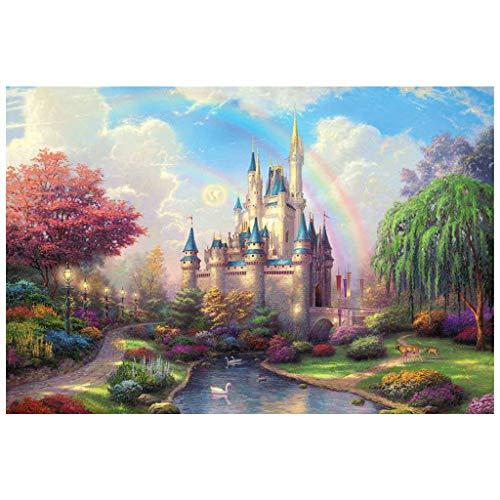 Yowablo Puzzle -Rainbow Castle-1000 Stück 27.56 von 19.69 Für Erwachsene Kinder Geschenk ( 70*50cm,A )