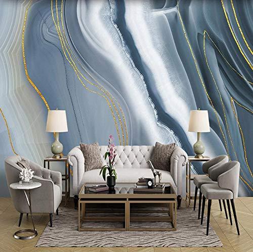 HUATULAI Wandschilderij 3D achtergrond waterdicht abstract marmeren patroon moderne woonkamer tv-achtergrond huis decoratie muurschilderij afbeeldingen 400 x 280 cm/b x h