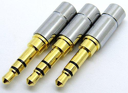 【ノーブランド】φ3.5mm ミニプラグ 修理交換用 3個セット (3極) [並行輸入品]