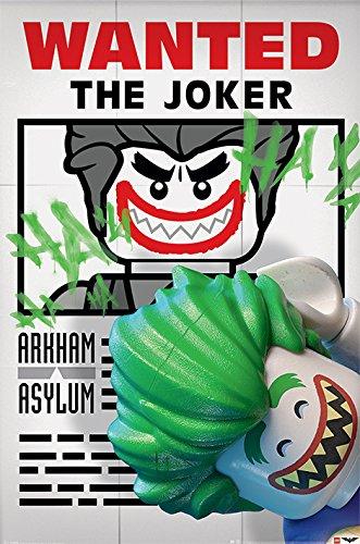 DC Comics Lego Batman quería el Joker Póster, Multicolor