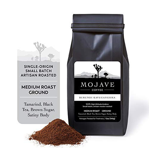 Burundi Kavugangoma, Single-Origin, Medium Roast, Ground, from 100% Premium Arabica Coffee Beans Grown at High-Altitude, Keto Friendly, Small Batch, Fresh Roasted 12 oz - Mojave Coffee