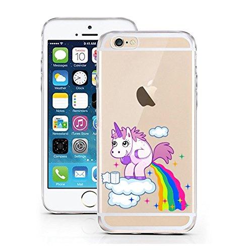 'licaso iPhone 66S 4,7TPU unicorno cellulare Sketch Unicorn Case trasparente chiara per cellulare Disney cellulare iPhone6Custodia Cover iPhone 5 5S SE Einhorn Wolke