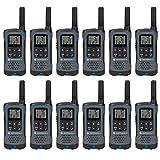Motorola Talkabout T200 Two-Way Radio, 20 Mile,12 Pack, Grey