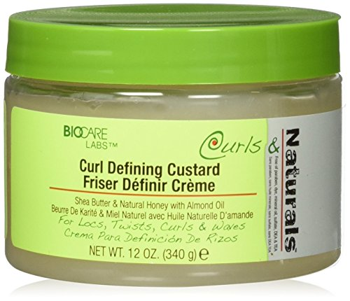BioCare Labs Curl Defining Custard- Styling Gel W/ Shea Butter, Natural Honey, and Almond Oil - Smooths and Moisturizes Hair - Curl Enhancer For Defined Styles - Hair Styling Cream