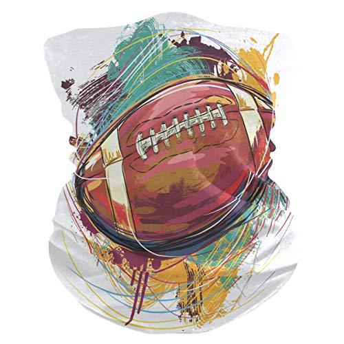 Sawhonn Arte Rugby Football PañueloPolaina Mascara Facial Bandana Cintas de Pelo Pasamontañas Diademas Headwraps Bufanda para Deportes Mujeres Hombres