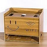 Router de WiFi Set Top Box Estante para Reproductor de DVD Dormitorio Sala Estante de Almacenamiento de Cable de alimentación de zócalo Caja de Acabado de Almacenamiento de Escritorio (Color : B)