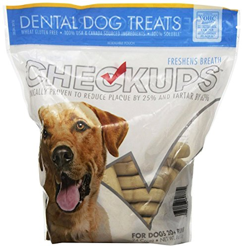 Checkups- Dental Dog Treats, 24ct 48 oz. for dogs (Pack of...