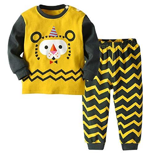Pijamas para niños para niñas Conjunto de Pijamas Estampados de Animales Lindos Ropa de Dormir para niños Niños
