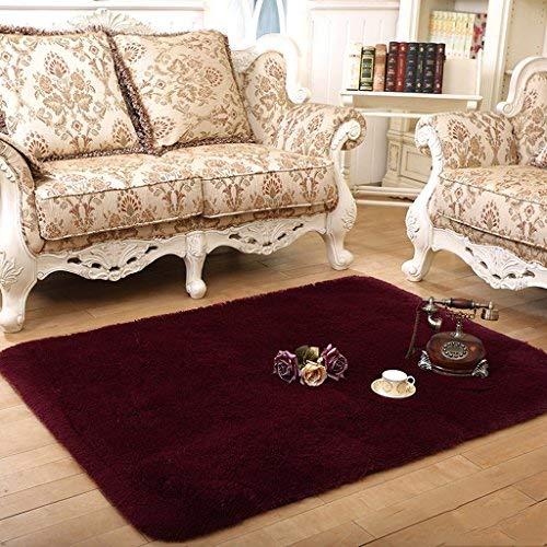 YOCASA vloerbedekking, woonkamer slaapkamer salontafel (kleur: rode wijn, afmeting: 140 * 200cm)