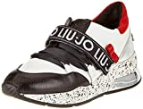 Liu Jo Karli, Zapatillas Niñas, Multicolor Negro, Blanco y Rojo 1s19a, 35 EU