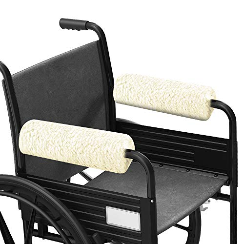 Buy FunCee Wheelchair Armrest Covers, Faux Sheepskin Pads with Memory Foam for Wheelchairs, Office &...