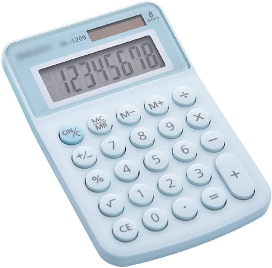 OFFicial store Sales THHN 8-Digit Widescreen Display Calculator Small Mini Port Cute