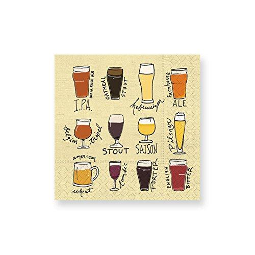 Design Design Choose Your Brew Cocktail Napkins, Multicolor