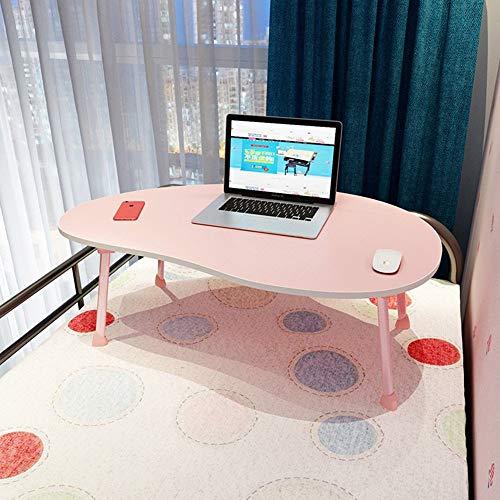 WTT Verstelbare klaptafel Kleine bureau/laptop tafel/Kinderbureau/Enkele eettafel / 80 * 50 * 28 cm Kan worden gedraaid (Kleur: ZWART)