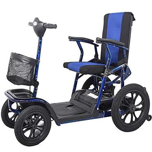 WPOSD Elektromobil, e-mobil, Mini Scooter faltbar seniorenfahrzeug,vierrädriges elektrofahrzeug,elektroroller,zu Öffnender handlauf,elektromagnetische Bremse,drehbarer Sitz
