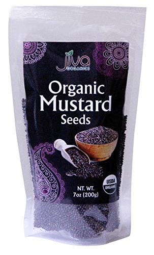 Jiva Organics Organic Black Mustard Seeds 7ounce Bag - 100% Natural & Non-GMO