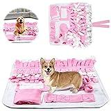 Sunshine Smile - Tappeto per cani, giocattolo intelligente per la ricerca di cibo naturale, per addestrare il cane e addestrare l'odore del cane (rosa)