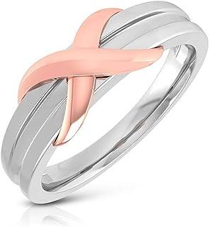 Anillo de compromiso de metal mixto antiguo, clásico para hombre, anillo de boda, único infinito, anillo de oro para novio, para fiesta, apilable, anillo de eternidad