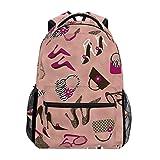 TIZORAX Sunglass borsetta zaino da scuola Bookbag escursionismo viaggio zaino scarpe con tacco alto