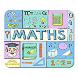 AOHOT Mauspads Mathematics Maths Colorful Doodle Mathematical Formulas Numbers and Symbol Mouse pad 9.5' x 7.9' for Notebooks,Desktop Computers Accessories Mini Office Supplies Mouse Mats
