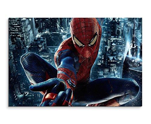 Spider Man City Wandbild 120x80cm XXL Bilder und Kunstdrucke auf Leinwand