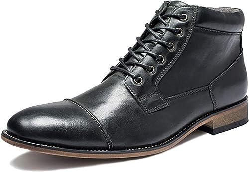 LYMYY schuhe Stiefel de seguridad de los herren Plus terciopelo casual de alta-top Stiefel de cuero Dr Mskillsens vaquero bota encaje-UPS Hiking Stiefel Chukka