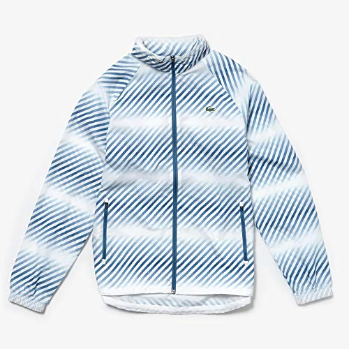 Lacoste Herren, Trainingsjacke Weiß, Blau, XL Jacken