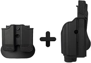 IMI Defense Z1600 Paddle Light / Laser Roto Holster + Double Magazine Pouch For Glock 17/19/22/23/25/31/32 Handgun Gen 4 Pistol Compatible
