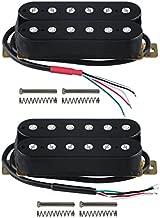 FLEOR Electric Guitar Humbucker Pickups Double Coil Guitar Bridge Pickup & Neck Pickups Set - Black