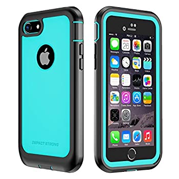 IMPACTSTRONG iPhone 7/8 Case Ultra Protective Case with Built-in Clear Screen Protector Full Body Cover for iPhone 7 2016 /iPhone 8 2017  Ocean Blue