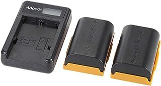 Andoer Portable LED Power Charger with 2pcs 1830mAh LP-E6 Rechargeable Li-ion Lithium Batteries for Canon EOS 6D, 7D, 70D,...
