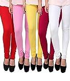ZAKOD Women's Cotton Lycra Churidar Leggings Combo Pack New Designs Combo of 5