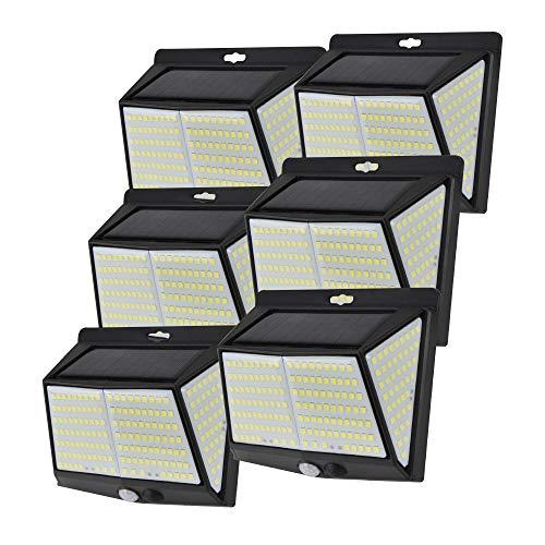 ソーラーライト 228LED めっちゃ照らすくん 6個セット 側面発光 センサーライト ガーデンライト 人感センサー 防雨 配線不要 防犯 壁 ミスターブライト 国華園