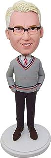 Figurine personalizzate in argilla Bobble Head basate sulla foto dei clienti Cake Topper Regalo di Natale Marito Regalo di...